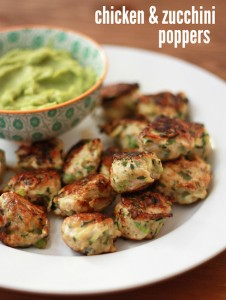 Chicken & Zucchini Poppers