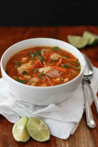 Chicken Lime Soup (Paleo, Whole 30 approved) // One Lovely Life