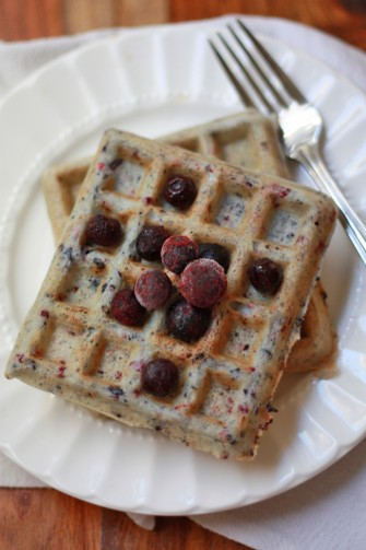 Very Berry Waffles (Gluten Free, Dairy Free) // One Lovely Life