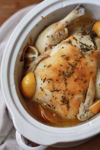 Slow Cooker Lemon Chicken (Paleo, Whole 30 approved) // One Lovely Life