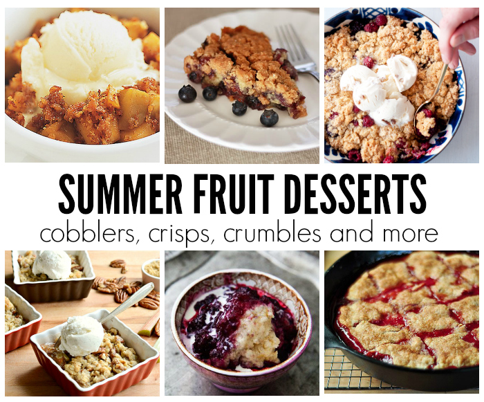 Summer Fruit Desserts // One Lovely Life