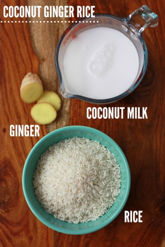 Coconut Ginger Rice // One Lovely Life