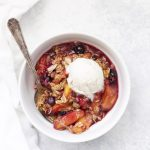 Peach Berry Crisp is the PERFECT summer dessert. This one is gluten free, vegan and absolutely delicious!