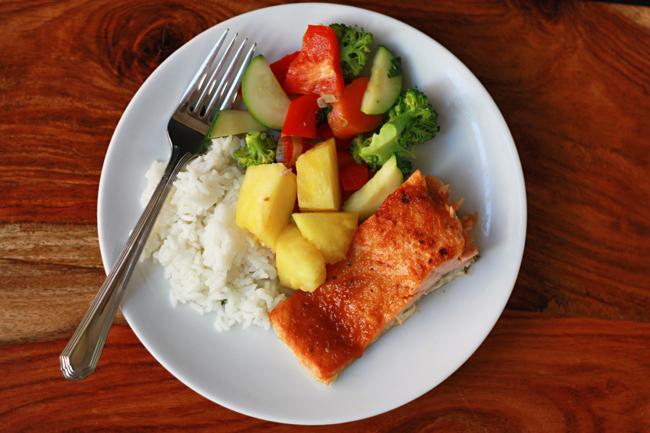 Pineapple Teriyaki Salmon (GF, Paleo) // One Lovely Life