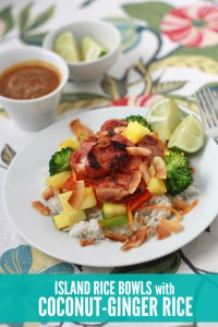 Island Rice Bowls with Coconut Ginger Rice