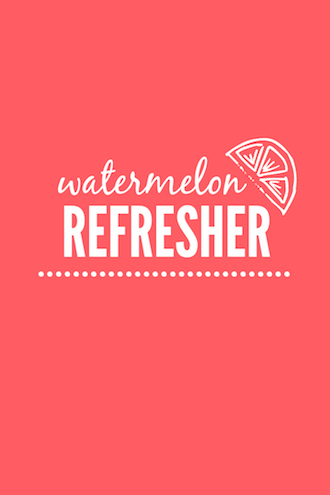Watermelon Refresher // One Lovely Life