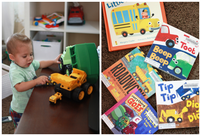 Things that GO! A few of our favorite books with cars, planes, trains, and more. // One Lovely Life