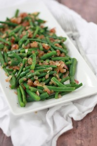 Green Beans with Tangy Vinaigrette // One Lovely Life