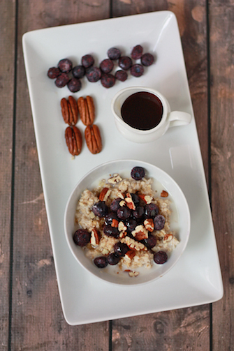 Blueberry Pecan Maple Oatmeal // One Lovely Life