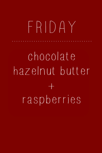 Chocolate Hazelnut + Raspberry Oatmeal // One Lovely Life