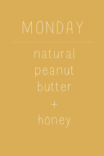 Peanut Butter and Honey Oatmeal // One Lovely Life