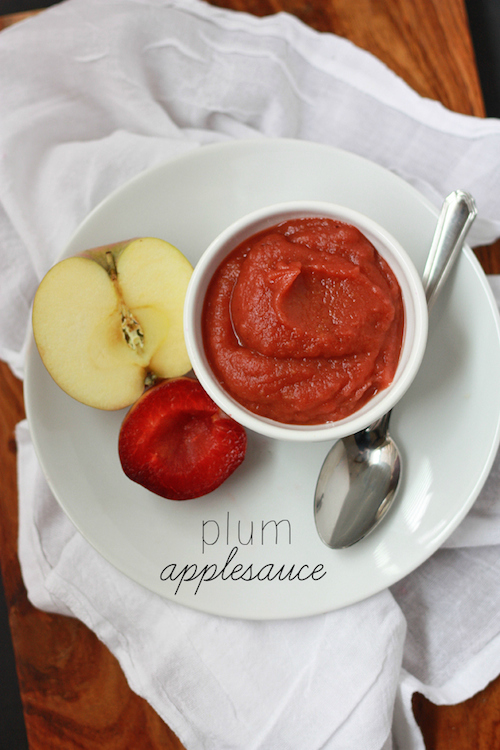 Plum Applesauce (GF, DF, V, Paleo, Whole30) - one lovely life