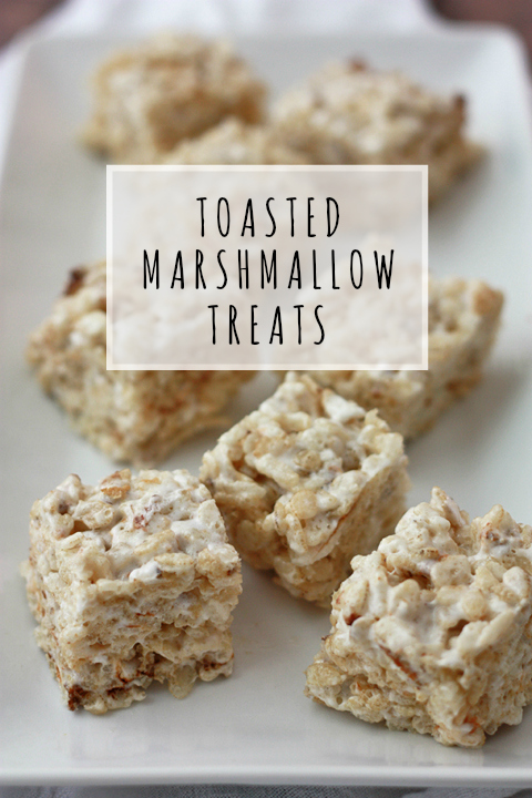 Toasted Marshmallow Treats // One Lovely Life