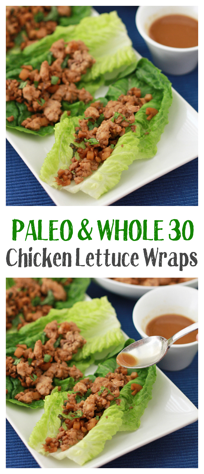 Chicken Lettuce Wraps (Paleo & Whole30 Approved!) • One Lovely Life
