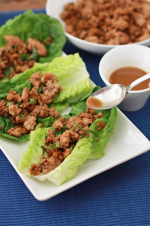 Chicken Lettuce Wraps (GF + Paleo) // One Lovely Life