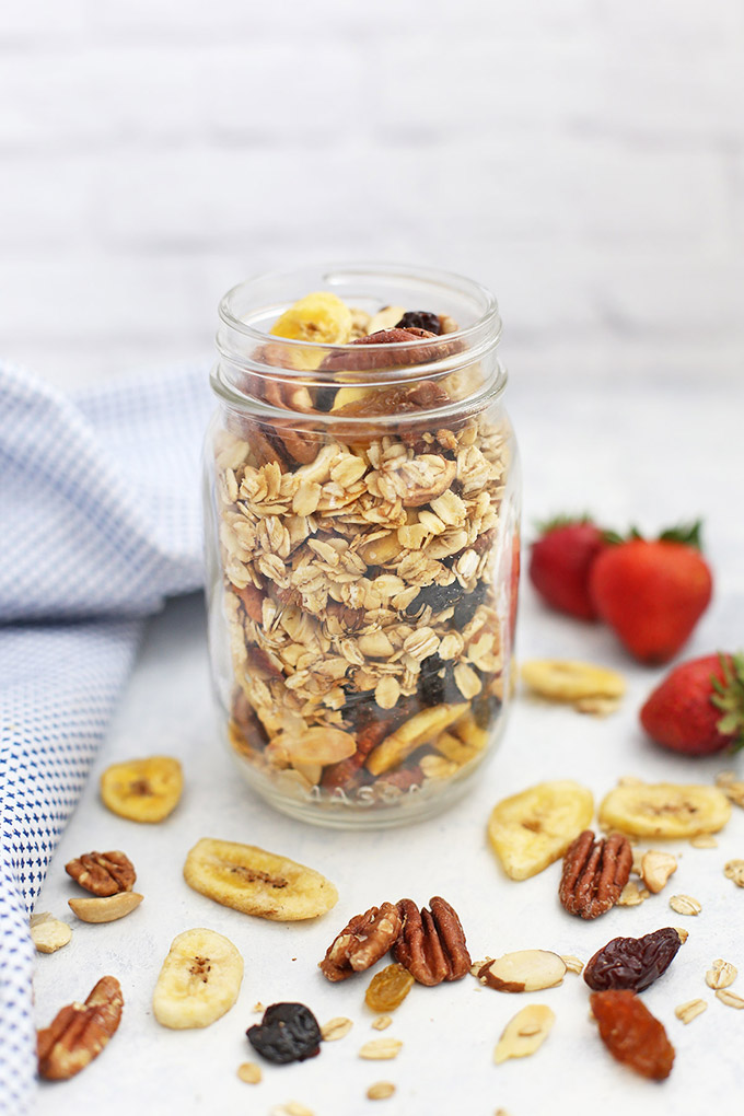 Trail Mix Granola - SUCH a great gluten free, vegan granola. Love the add-ins!