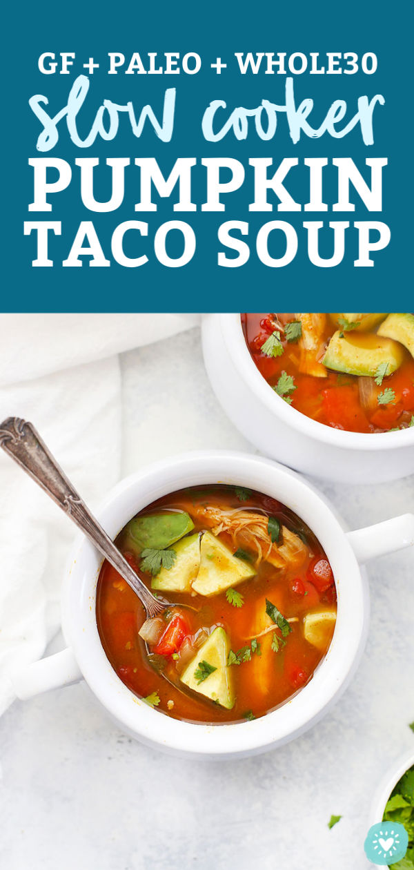 Slow Cooker Pumpkin Taco Soup from One Lovely Life