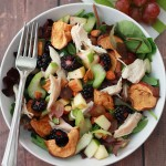 Apple Apple Chicken Salad with Cider Vinaigrette // One Lovely Life
