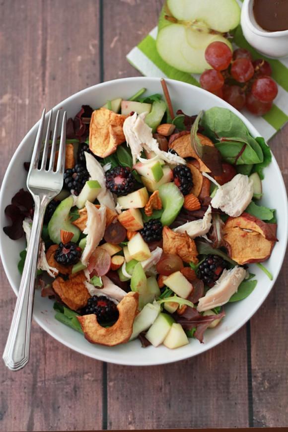 Apple Apple Chicken Salad with Cider Vinaigrette // One Lovely Life