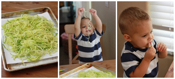 Zoodles with Tomato Basil Olive Sauce + Paderno Spiralizer Giveaway // One Lovely Life
