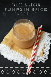 Pumpkin Spice Smoothie (Paleo & Vegan) // One Lovely Life