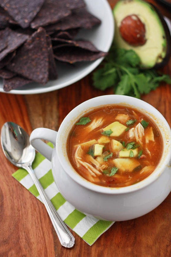 Paleo + Whole30 Slow Cooker Pumpkin Taco Soup // One Lovely Life