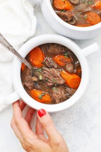 Whole30 + Paleo Slow Cooker Beef Stew from One Lovely Life