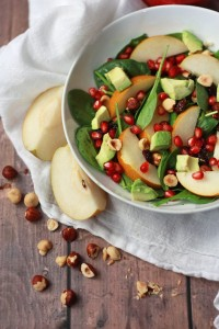 Asian Pear and Pomegranate Salad // One Lovely Life