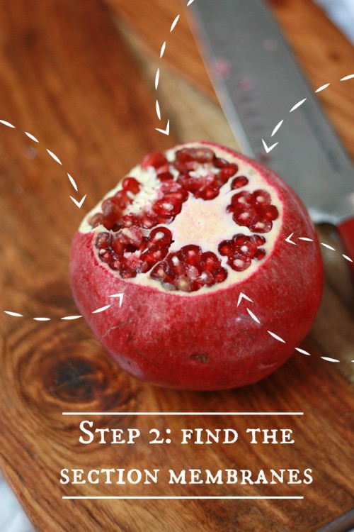 How to Seed a Pomegranate // One Lovely Life