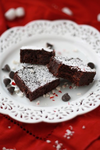 Gluten Free Peppermint Truffle Brownies // One Lovely Life