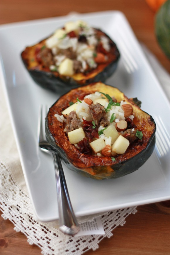 Stuffed Acorn Squash // One Lovely Life
