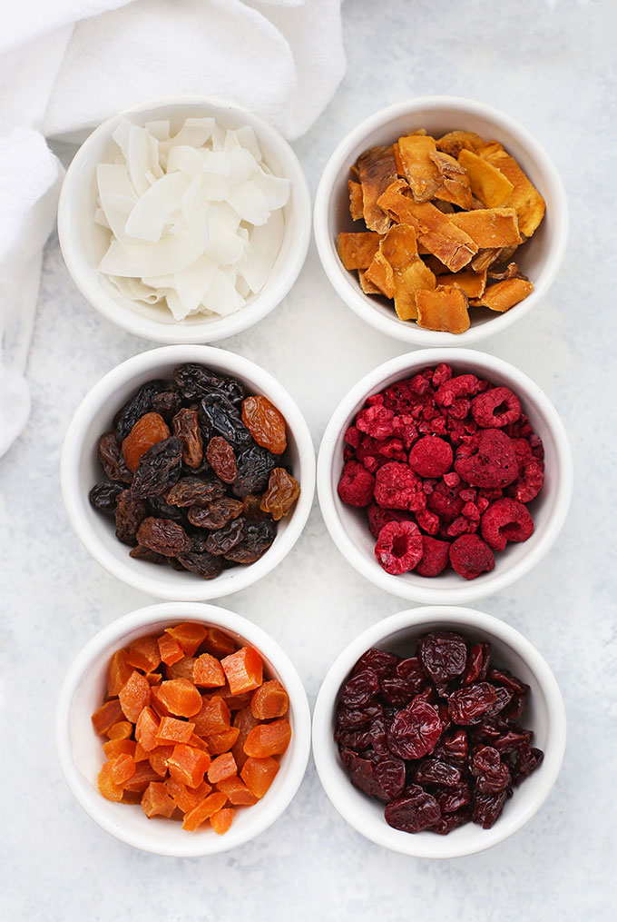 Dried Fruit and Freeze Dried Fruit for a DIY Trail Mix Bar from One Lovely Life
