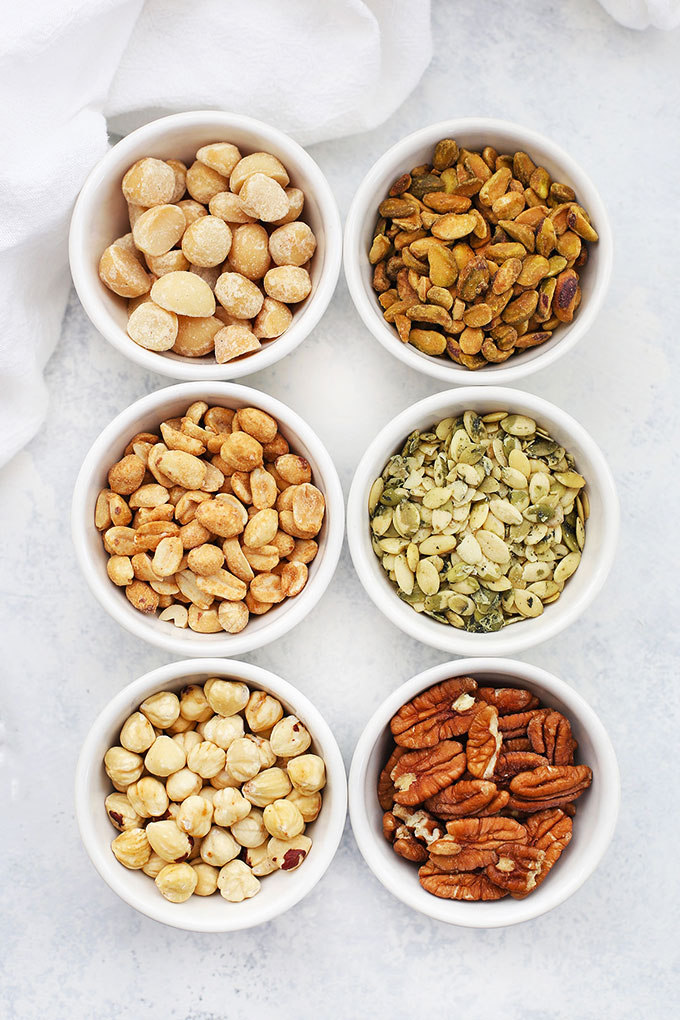 Nuts and Seeds for a DIY Trail Mix Bar from One Lovely Life