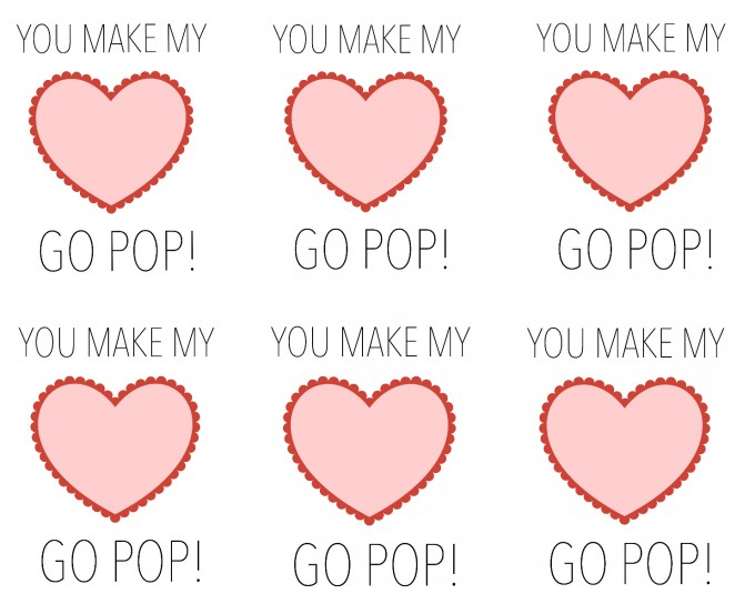 You Make My Heart Pop! Printable