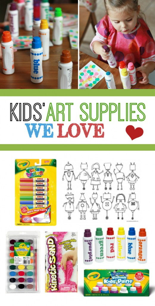 Our Favorite Kids' Art Supplies + Ways to Get Creative! // One Lovely Life