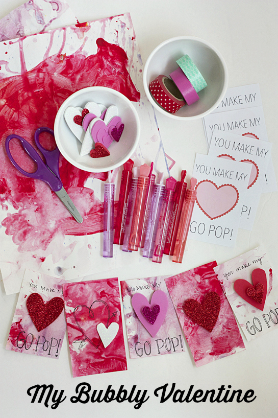 My Bubbly Valentine - DIY Valentine (with Free Printable!) >> One Lovely Life