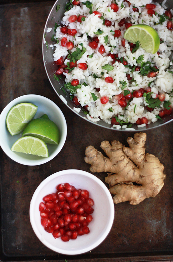 Pomegranate Rice // One Lovely Life