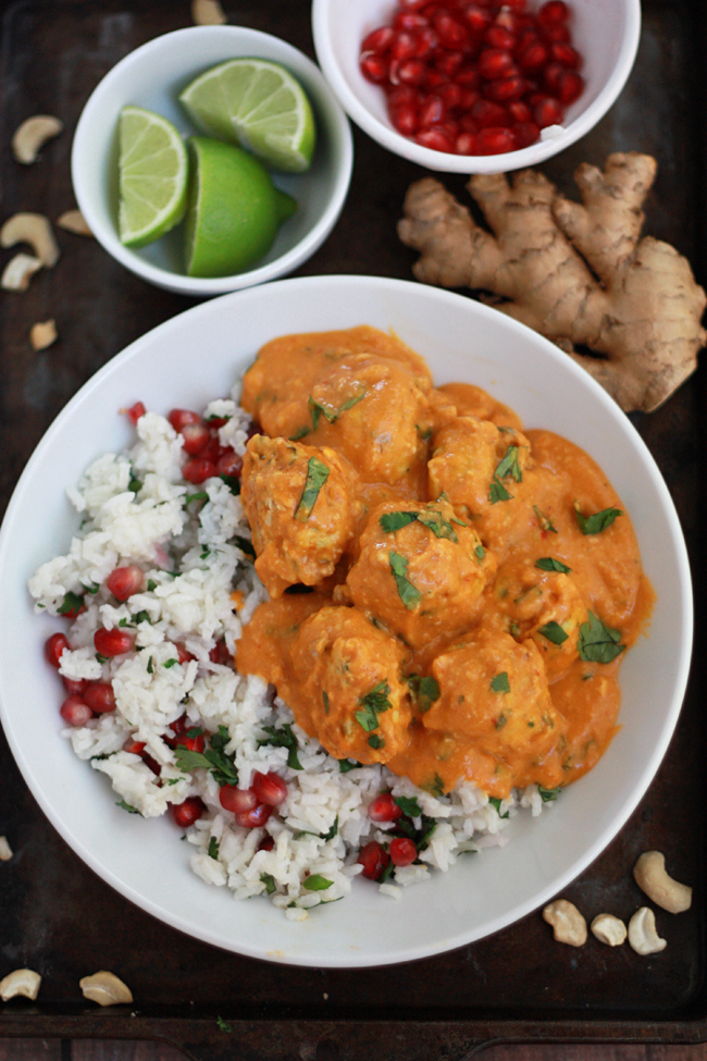 Thai Pumpkin Curry with Chicken Zucchini Meatballs // One Lovely Life