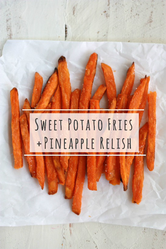 Sweet Potatoes with Pineapple Relish // One Lovely Life