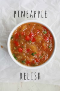 Pineapple Relish + Sweet Potatoes