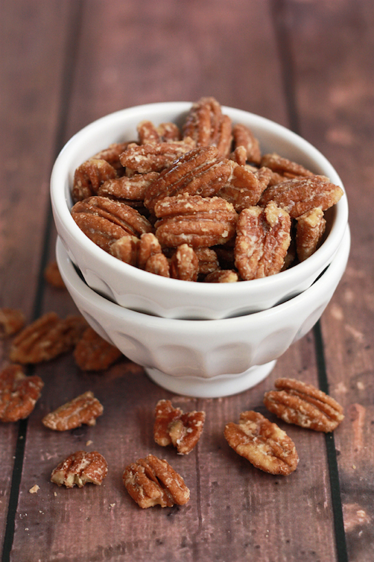 Maple Candied Pecans (Paleo, Vegan) // One Lovely Life