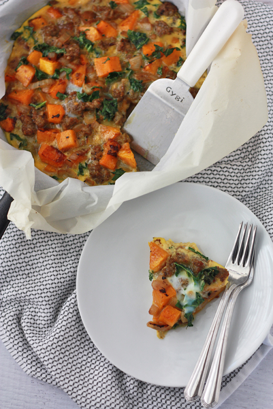 Sausage and Squash Frittata // One Lovely Life