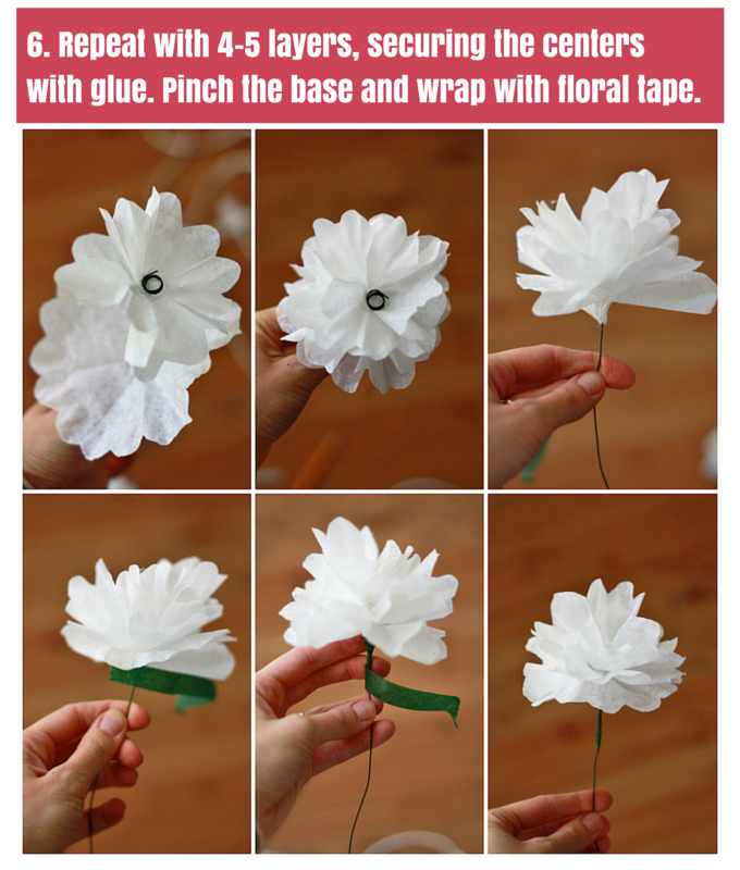 How to make paper flowers one lovely life how to make paper flowers from coffee filters one lovely life mightylinksfo Choice Image