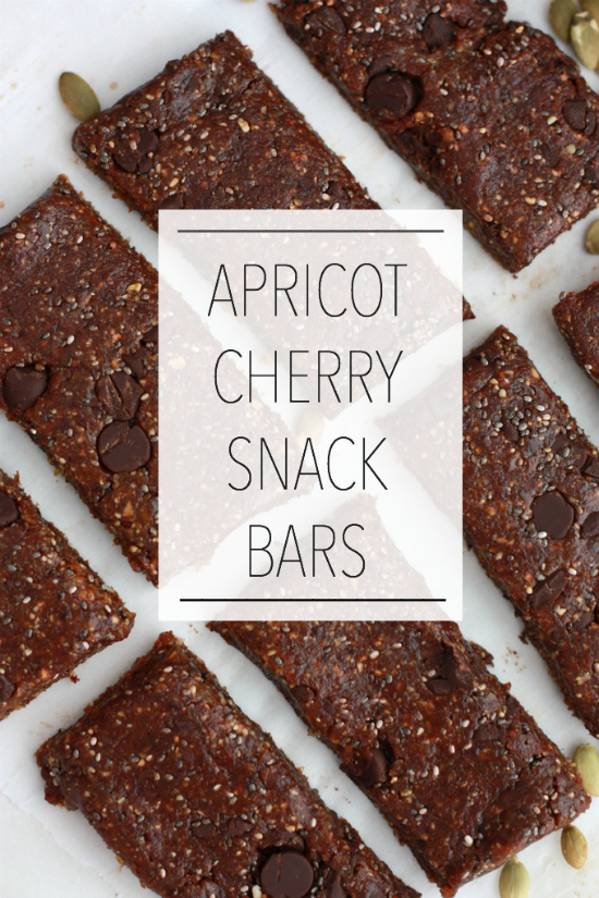 Apricot Cherry Snack Bars // One Lovely Life