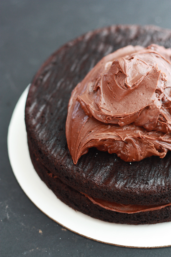 The Best Vegan Chocolate Frosting // One Lovely Life