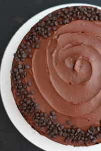 Vegan Chocolate Birthday Frosting