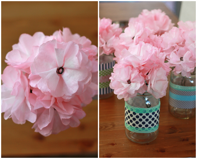 How to Make Paper Flowers from Coffee Filters // One Lovely Life