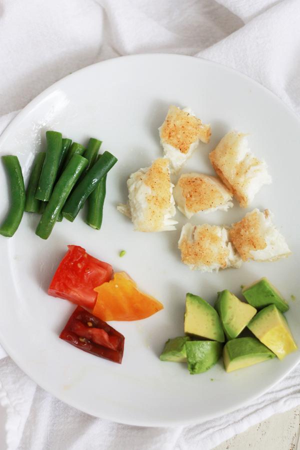 Crispy Alaskan Halibut with Avocado Tomato Salad // One Lovely Life