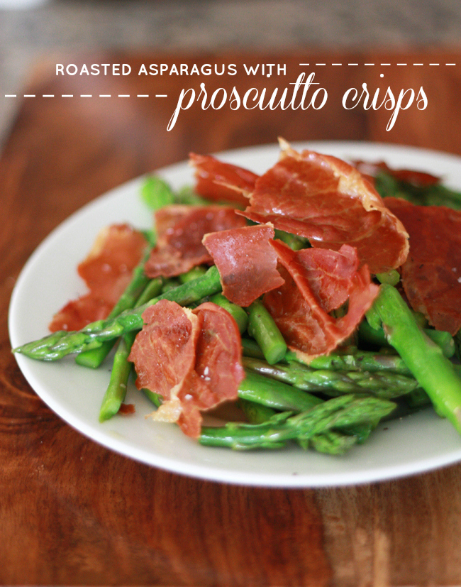 Roasted Asparagus with Prosciutto Crisps // One Lovely Life