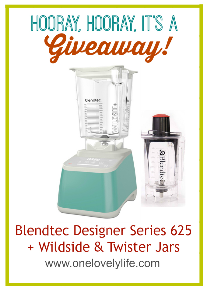 Win a Blendtec Designer Series 625 + Wildside & Twister Jars! // One Lovely Life